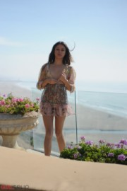 Angelina   sea view. <p>Angelina enjoys a view of the sea while we enjoy an exclusive view of the sweet Angelina!</p>